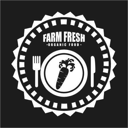 farm fresh design over black background vector illustration Vector