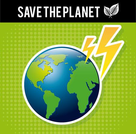enviromental: energy design over green background vector illustration