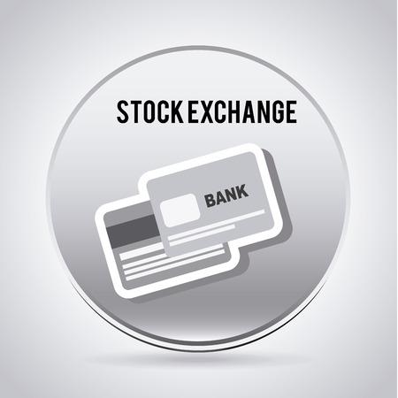 Bank design over gray   background, vector illustration Vector