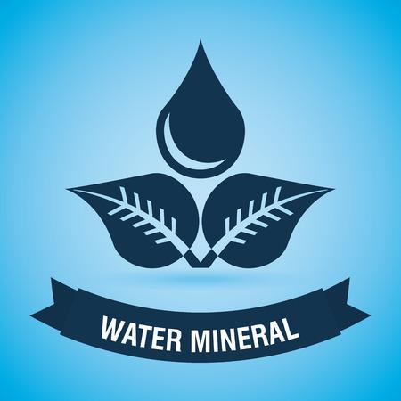 enviromental: dise�o de agua sobre fondo azul ilustraci�n vectorial