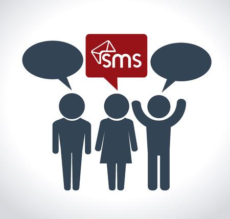 socializing: Social network design over white background, vector illustration