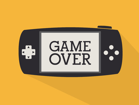 videogame: Videogame  design over yellow background, vector illustration