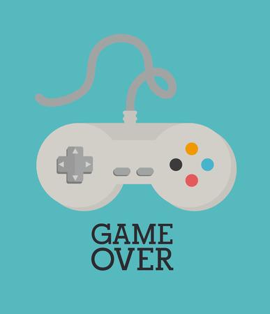 videogame: Videogame  design over blue background, vector illustration Illustration