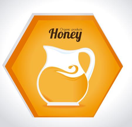 nectar: Honey design over white background, vector illustration