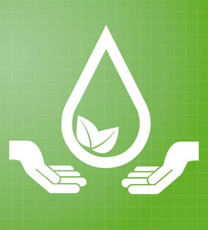 enviromental: water design over green background vector illustration Illustration