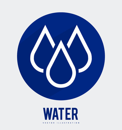 enviromental: dise�o de agua sobre fondo blanco ilustraci�n vectorial Vectores