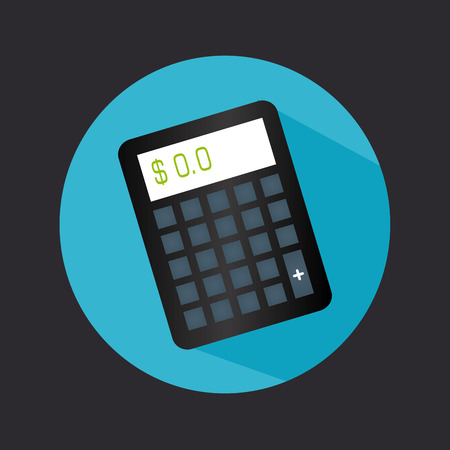 accountancy: Calculator design over blue background, vector illustration