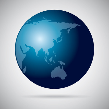 homeland: planet design over gray background vector illustration