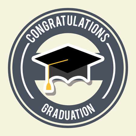 graduated: graduation design over  white background vector illustration Illustration
