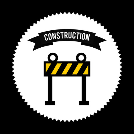 balck: construction design over balck   background vector illustration