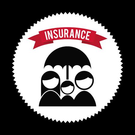 insurance design over  black  background vector illustration Vector