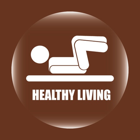 muscular control: healthy design over brown background vector illustration