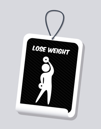 muscular control: healthy design over gray background vector illustration Illustration