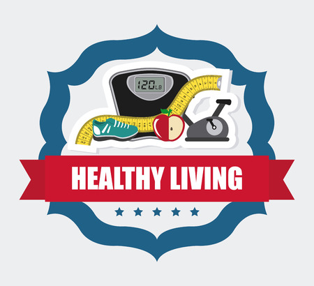 reflection of life: healthy design over white  background vector illustration