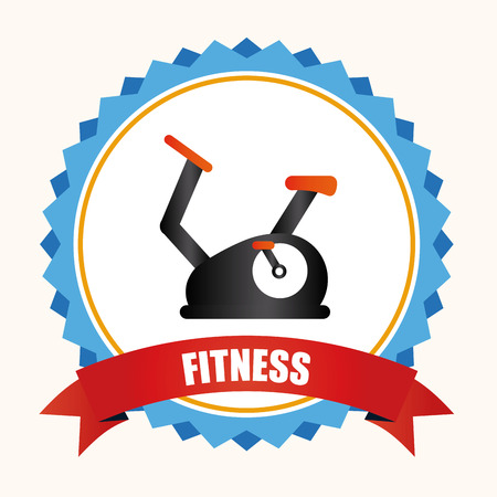 static bike: healthy design over white background vector illustration