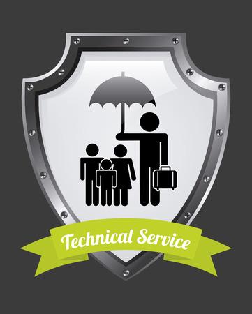 insurance design over  gray  background vector illustration Vector