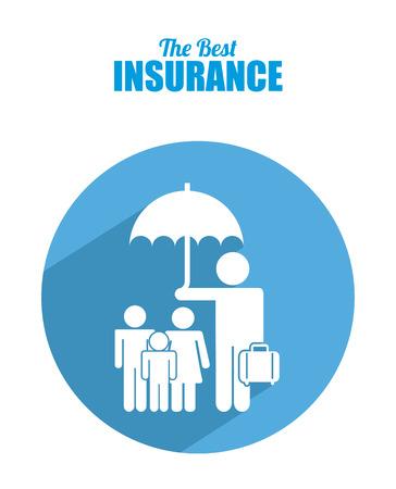insurance design over white background vector illustration Vector