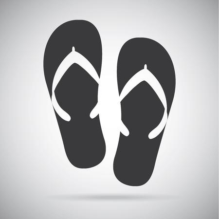 flip flops: summer vacations over gray background vector illustration