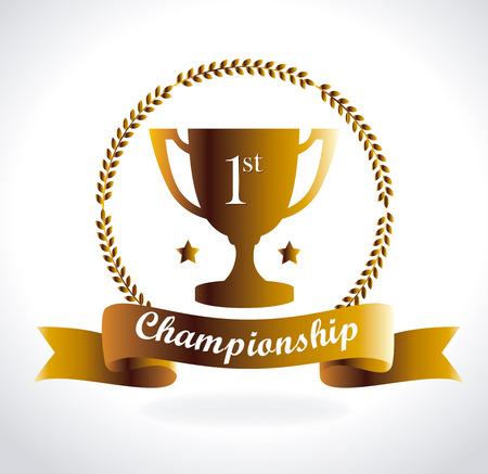 champ: Champion design over white background, vector illustration