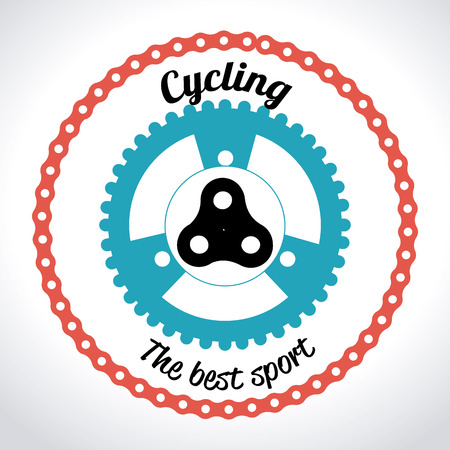 Bike design over white background, vector illustration Ilustrace