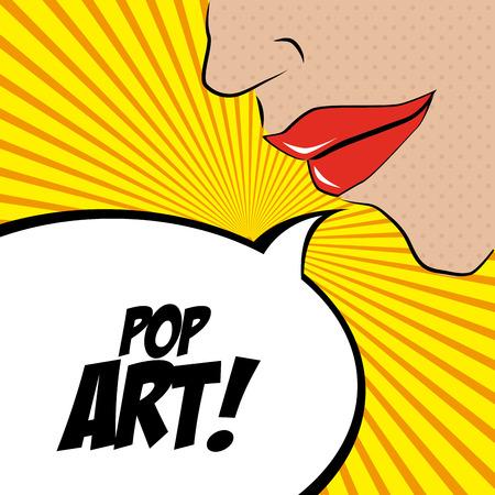 Pop art design over yellow background, vector illustration Illustration