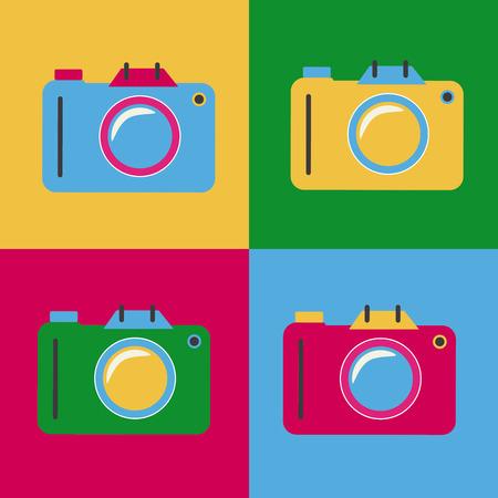 Pop art design over colorfu background, vector illustration Vector