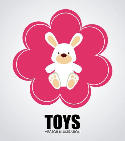 buny: Toys design over white background, vector illustration Illustration