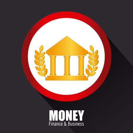 Money design over black background, vector illustration Vector