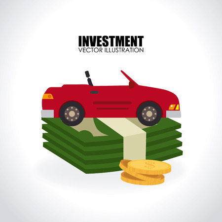 car bills: Money design over white background, vector illustration