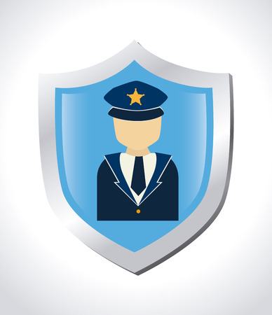 watchmen: Security design over white background, vector illustration