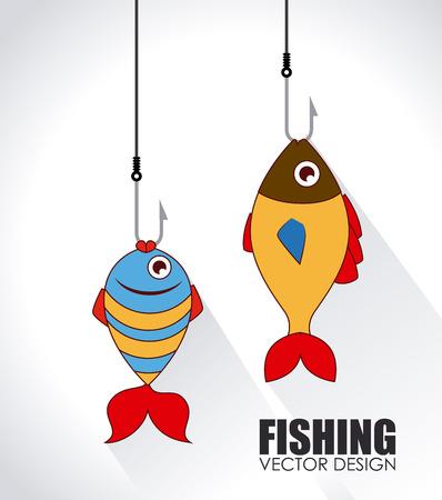 Fish design over white background, vector illustration Vector
