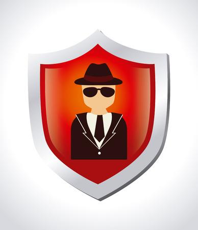 Security design over white background, vector illustration