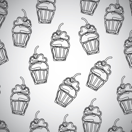 cupcakes graphic design. Vector illustration.  Vector