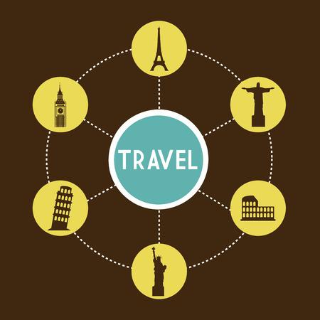 travel design over background vector illustration  Vector