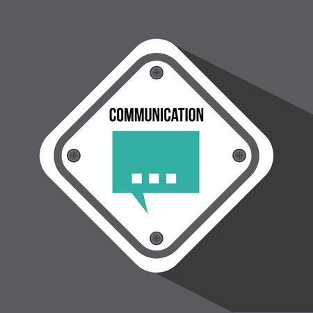 communication design over gray  background vector illustration