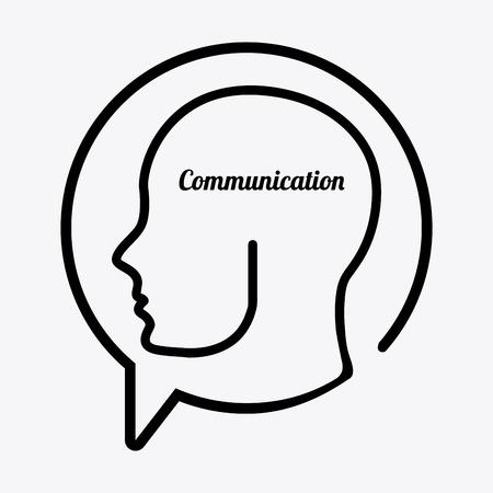communication design over white background vector illustration