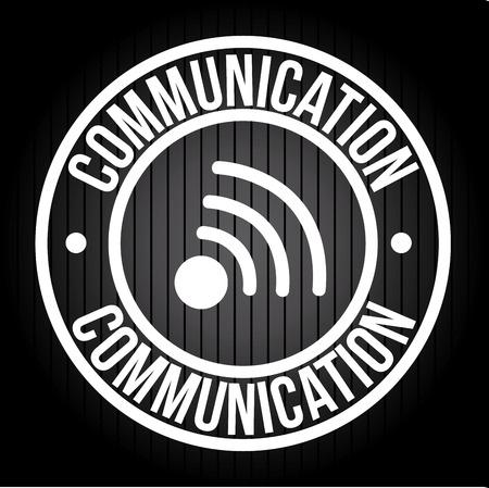 communication design over black  background vector illustration