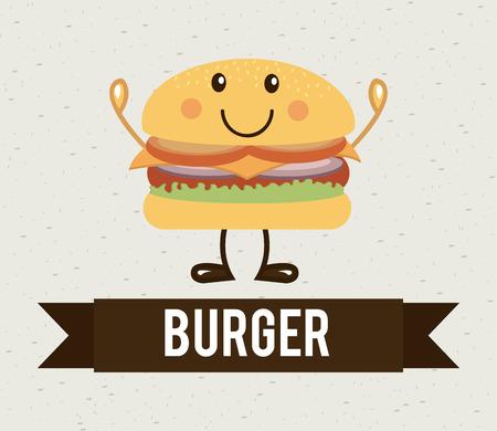 aliment: food design over pattern background vector illustration