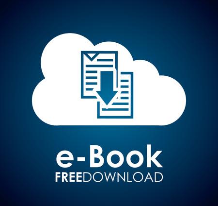 free education: ebook graphic design  ,vector illustration