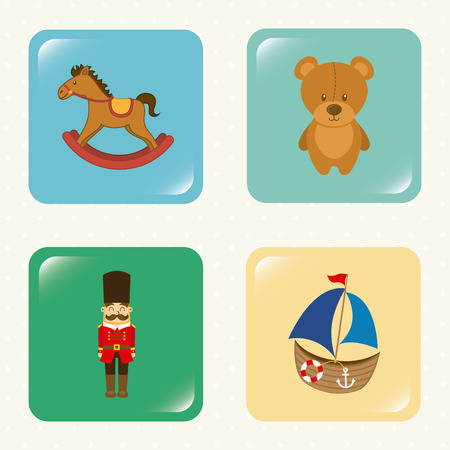 toys graphic design ,vector illustration Vector