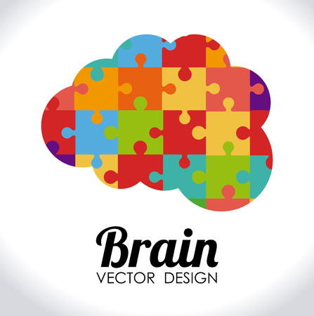 brain work: Idea design over white background, vector illustration Illustration