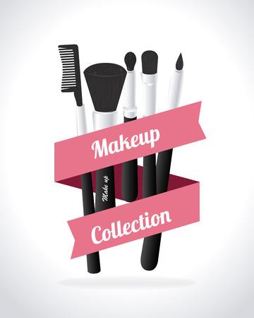 Cosmetics design over white background, vector illustration Illustration