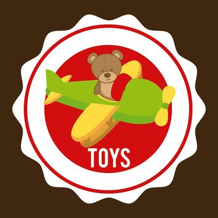 paper airplane: toys graphic design ,vector illustration Illustration