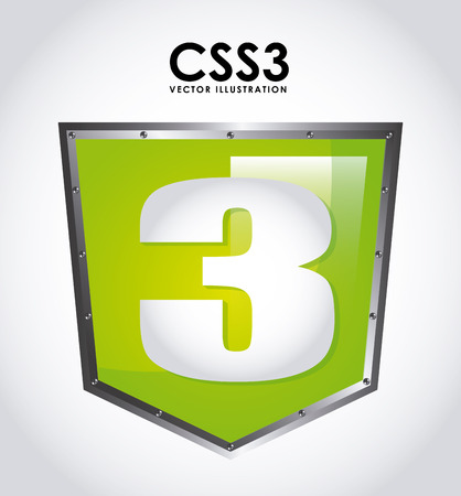 css3: computer design over gray background vector illustration Illustration