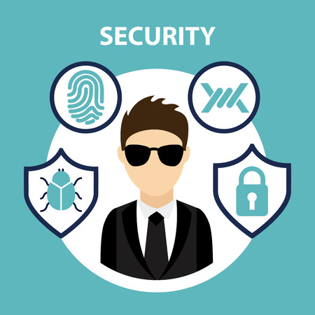 computer virus: security system icon , vector illustration