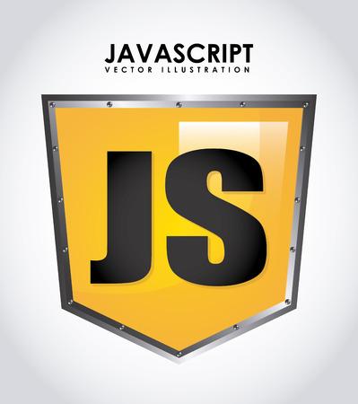 js: computer design over gray background vector illustration Illustration