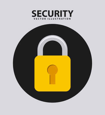 security system icon , vector illustration Vector