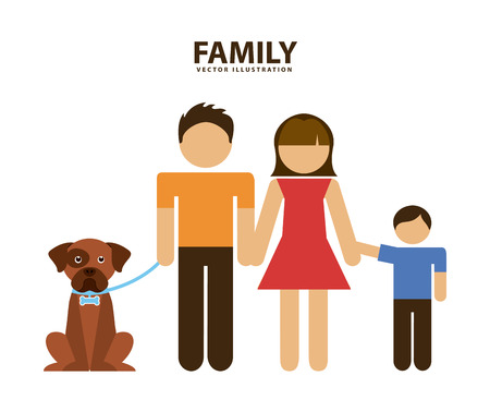 family graphic design , vector illustration  Vector