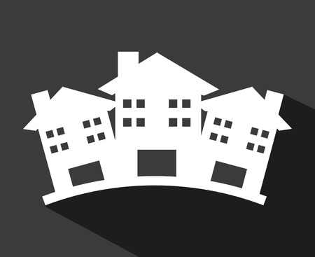 townhouses: dise�o gr�fico, ilustraci�n vectorial