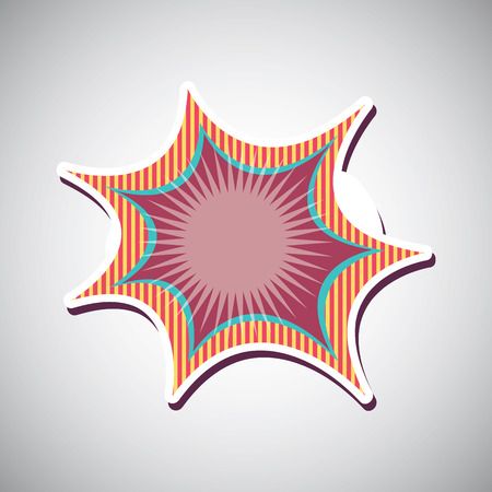 comic graphic design , vector illustration Vector